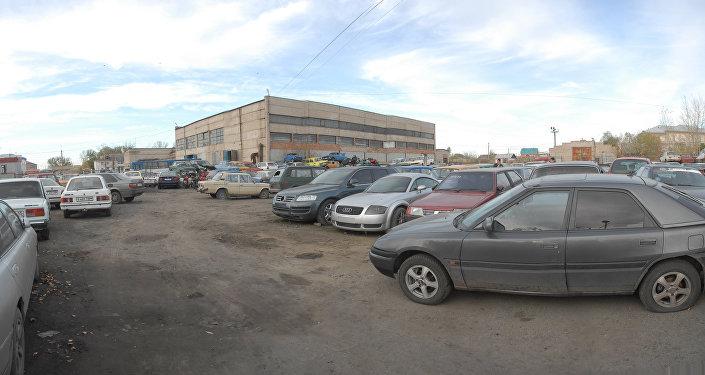 Автомобиль Тимати на штрафстоянке в Петропавловске