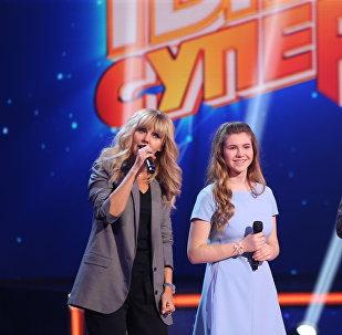 Валерия и участница конкурса Ты супер!