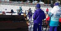 Казахстанские биатлонисты на Чемпионате мира в Австрии