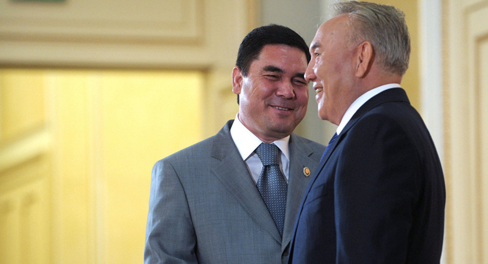 Нурсултан Назарбаев и Гурбагулы Бердымухамедов