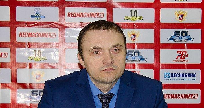 Главный тренер хоккейного клуба Рязань Алексей Алексеев