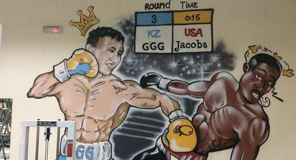 Воркаутеры Астаны создали граффити про предстоящий бой Головкина и Джейкобса
