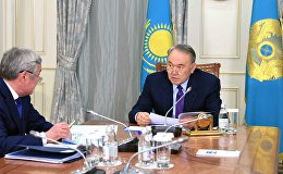 Нұрсұлтан Назарбаев пен Бердібек Сапарбаевтың кездесуі