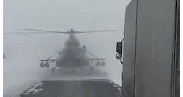 Cотрудники экстренных служб  вКазахстане ищут пропавший вертолет