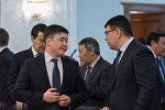 Министр национальной экономики РК Тимур Сулейменов (слева) и министр энергетики РК Канат Бозумбаев (справа)