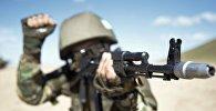 Казахстанский солдат. Архивное фото