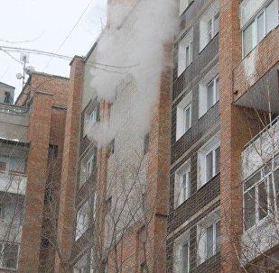 Пожар в Усть-Каменогорске