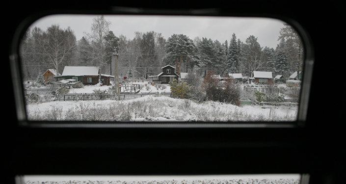 Вид из окна поезда, фото из архива