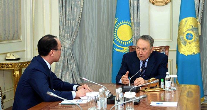 Кайрат Кожамжаров и Нурсултан Назарбаев