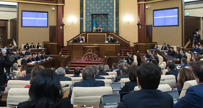 Совместное заседание палат парламента РК