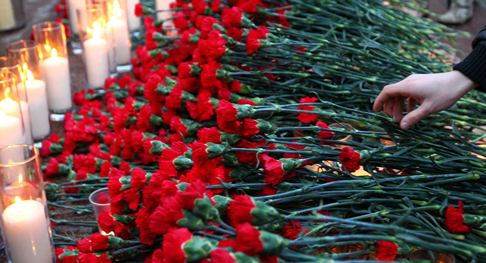 Акция памяти погибших при взрыве в Домодедово