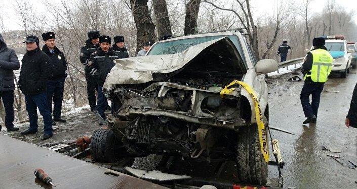 ДТП на трассе Алматы-Бишкек