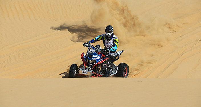 Квадроцикл Astana Motorsports на Dubai International Baja-2017
