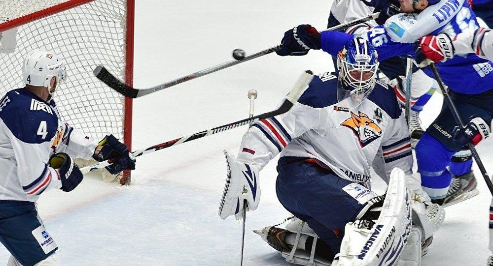 «Металлург» Мгвтретьем матче подряд обыграл «Барыс»