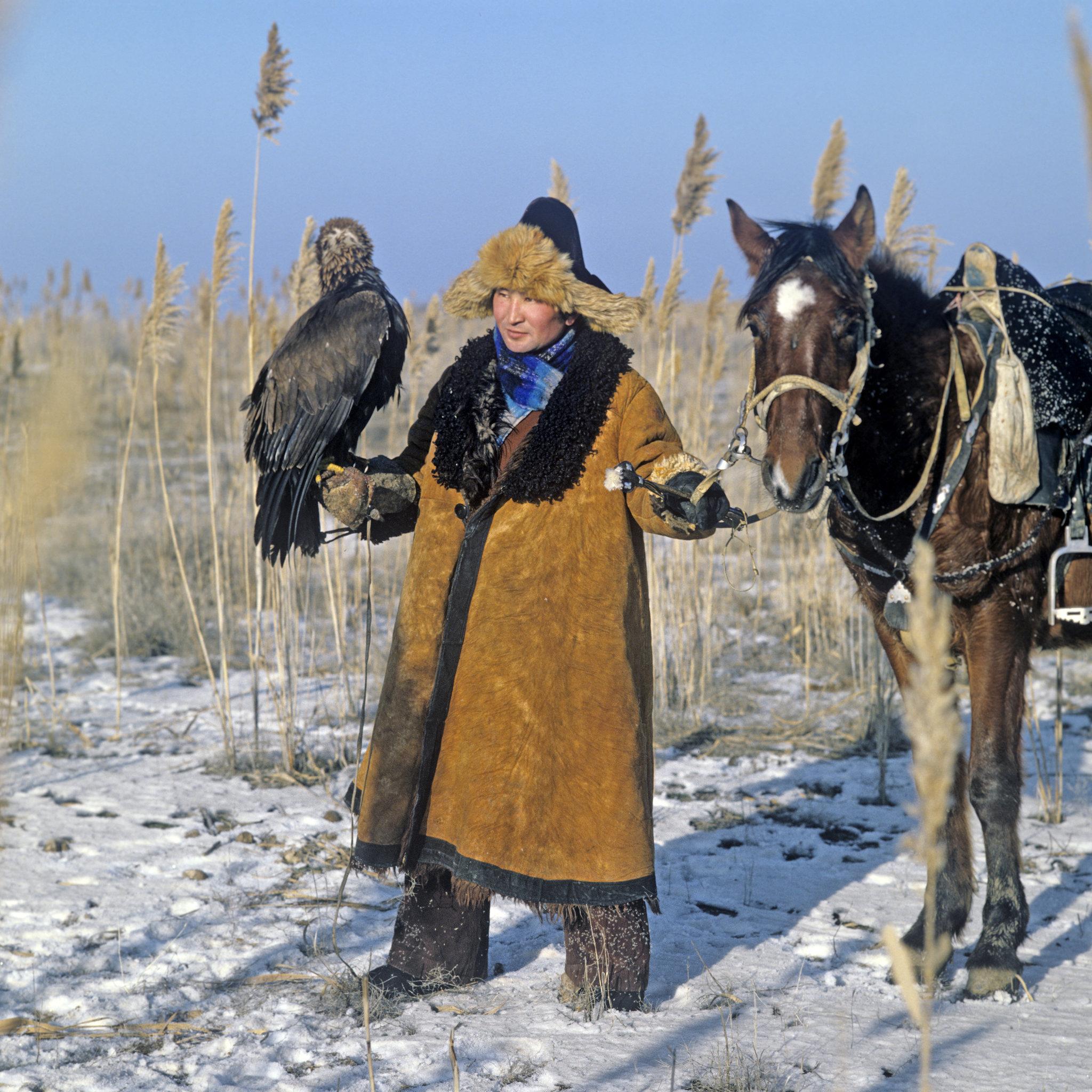 Охотник с беркутом