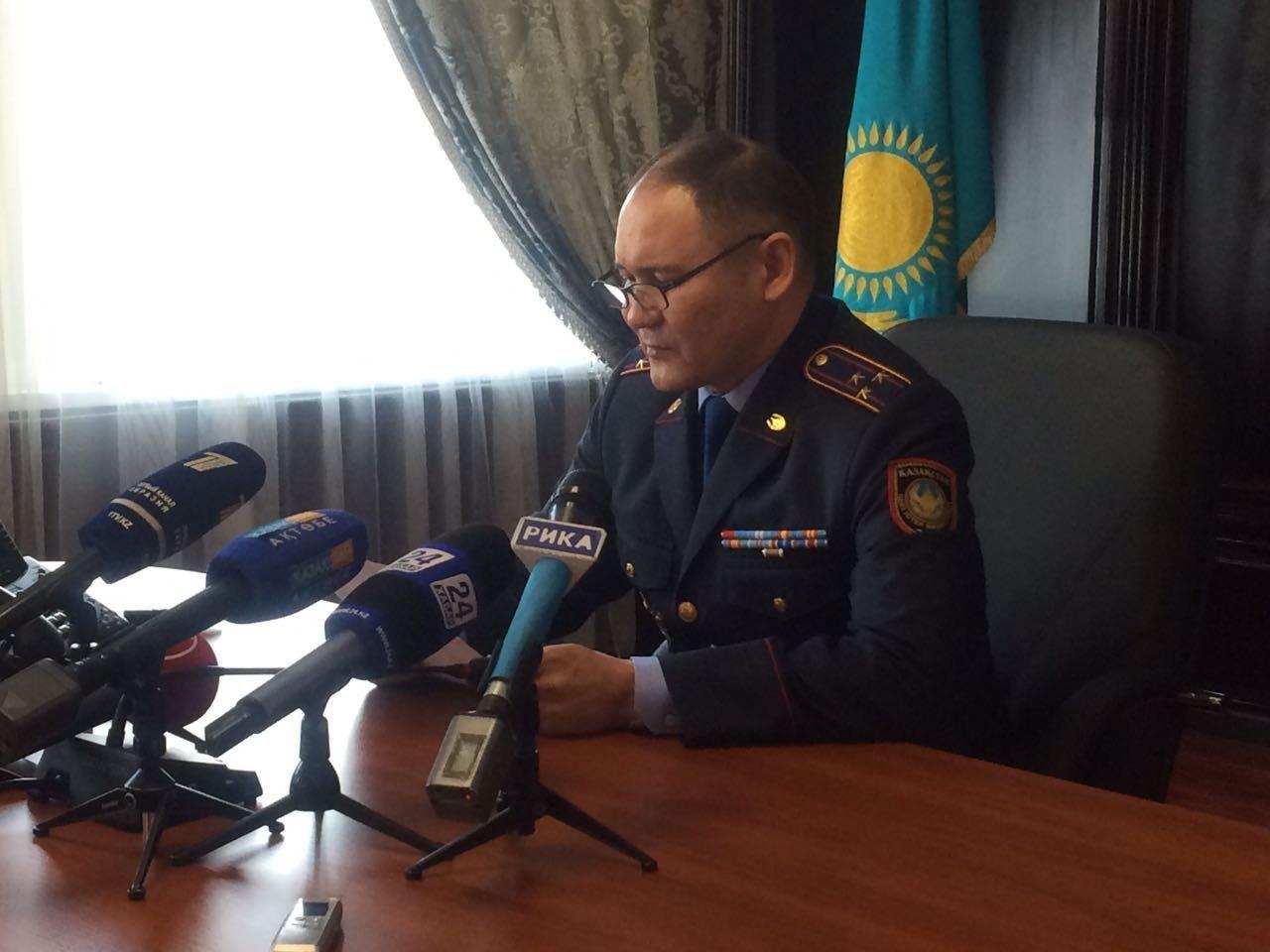 Первый заместитель начальника ДВД Актюбинской области Арыстангани Заппаров