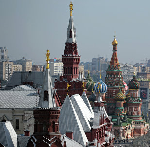 Архивное фото Кремлевского дворца в Москве