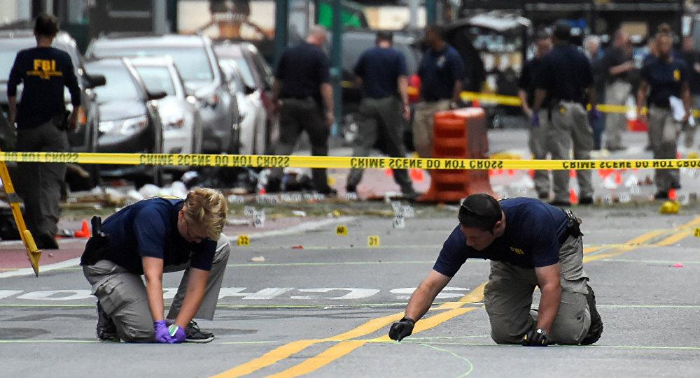ФБР на месте взрыва в Нью-Йорке