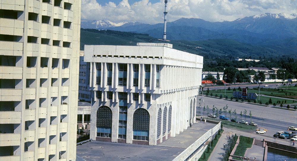 Вид на новый район Алма-Аты