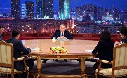 Нурсултан Назарбаев с представителями казахстанских СМИ