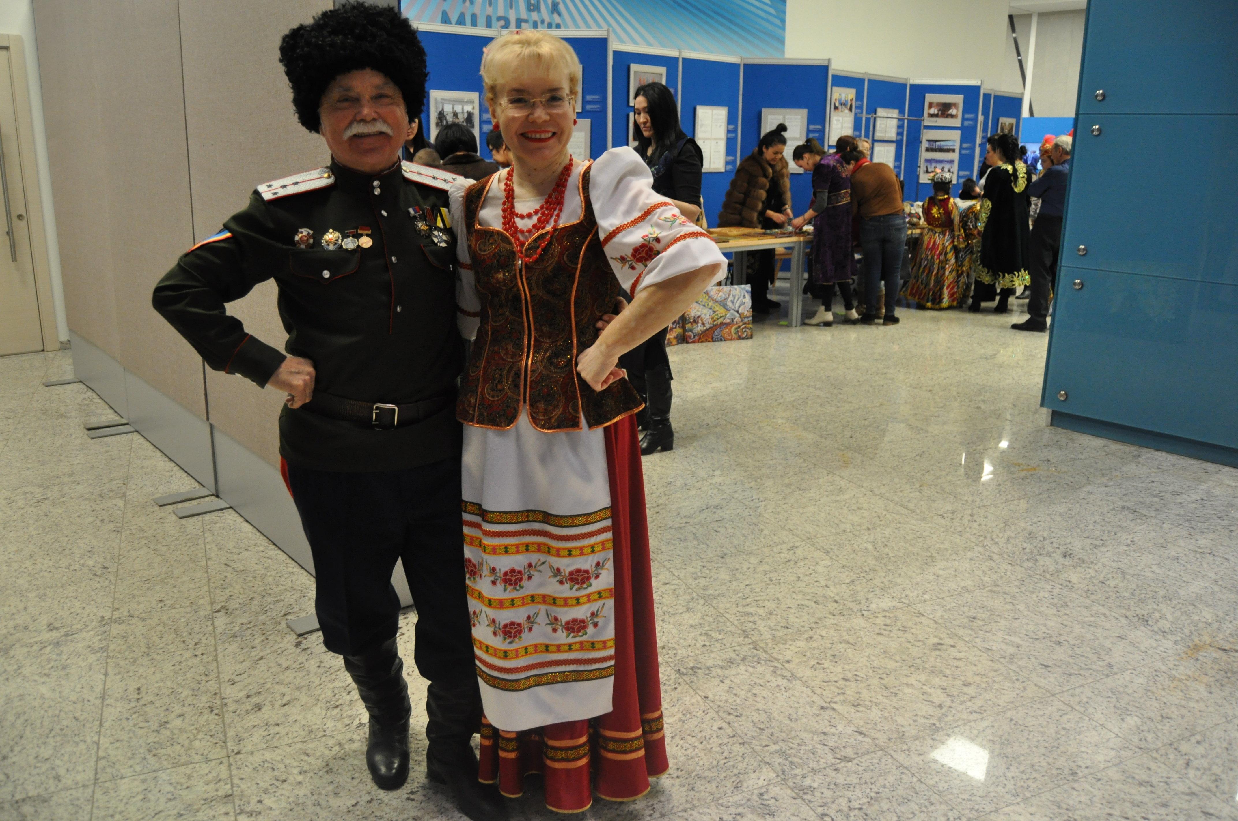 Казачий ансамбль Раздолье на акции Ночь в музее