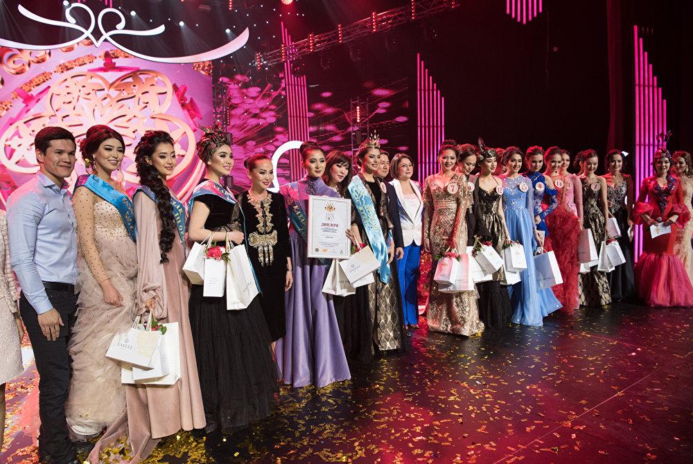 Участницы конкурса Қазақ аруы-2017