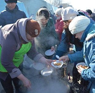 Празднование Наурыза в Петропавловске