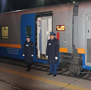 В первый рейс с вокзала  Алматы-2 отправился скоростной поезд по маршруту Алматы-Ташкент