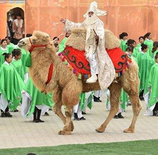 Празднование Наурыза в Туркестане