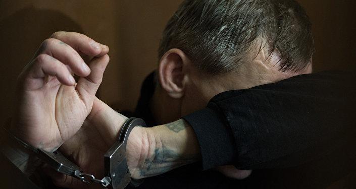 Арест подозреваемого, фото из архива