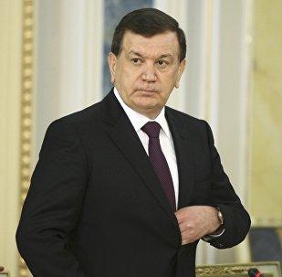 Президент Узбекистана Ш.Мирзиёев во время визита в Казахстан