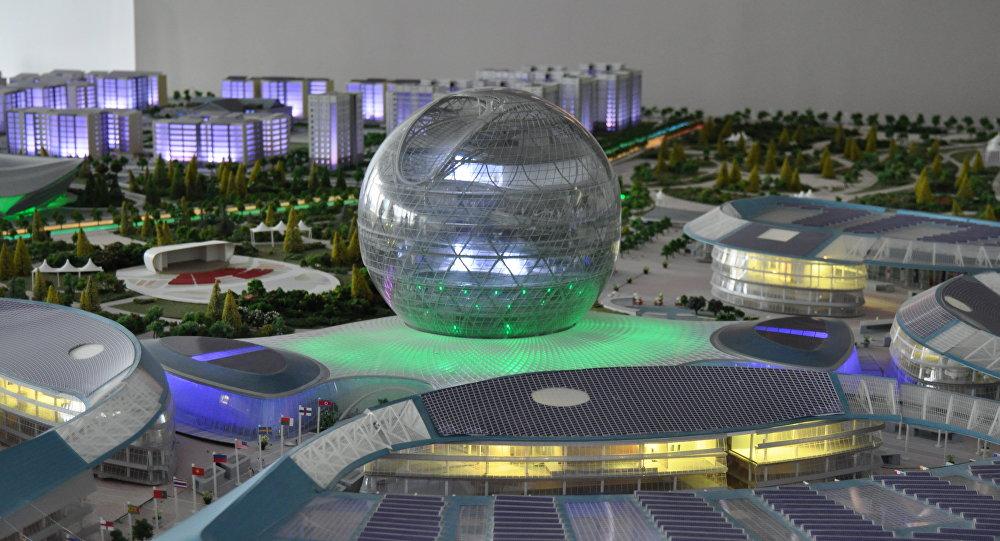 Макет международной выставки ЭКСПО-2017 в Астане