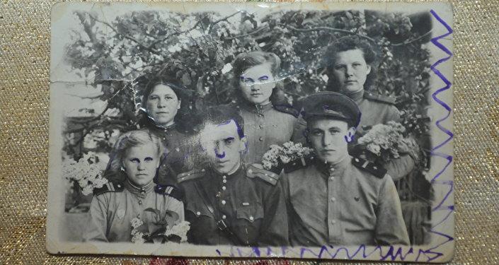 фронтовая фотография ветерана Нафися Агишева