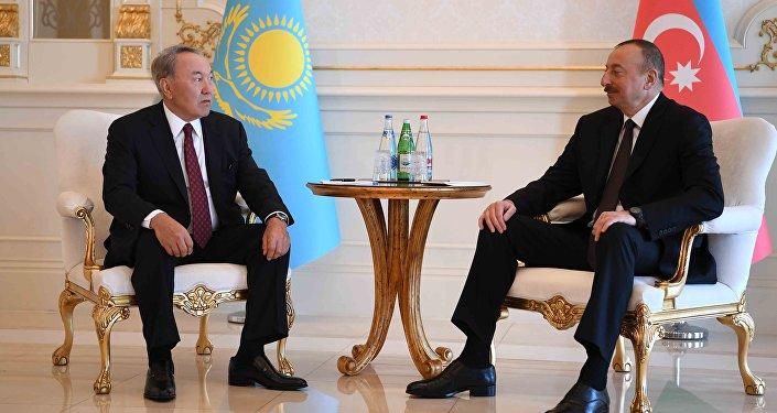 Встреча Нурсултана Назарбаева и Ильхама Алиева