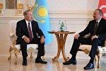 Нұрсұлтан Назарбаев пен  Ильхам Алиев
