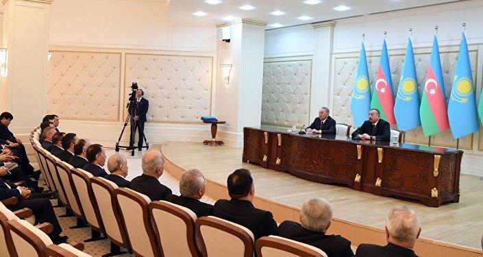 Итоговый брифинг по визиту Нурсултана Назарбаева в Азербайджан