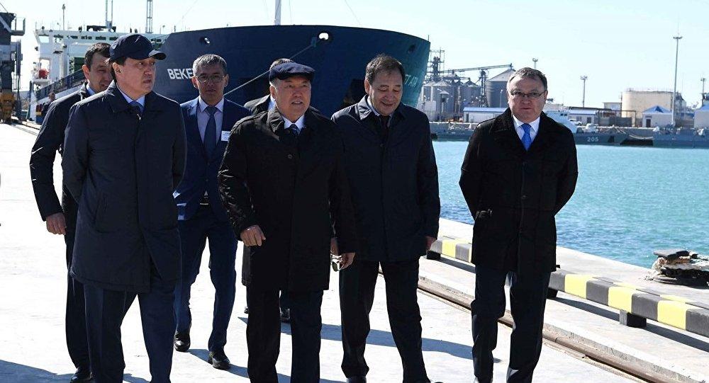 Посещение Нурсултаном Назарбаевым Актауского морского северного терминала