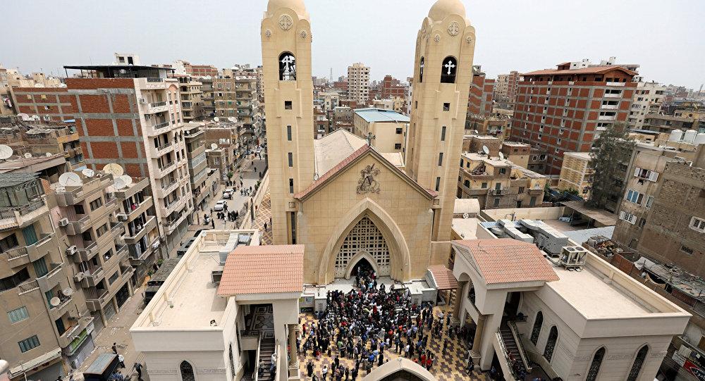 Церковь в городе Танта, где произошел теракт