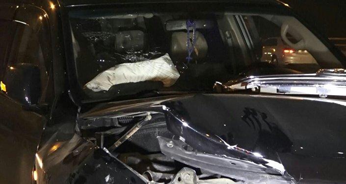 Несколько автомобилей столкнулись в Алматы