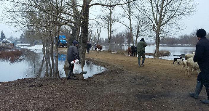 Эвакуация жителей в Карагандинской области, село Сарытобе