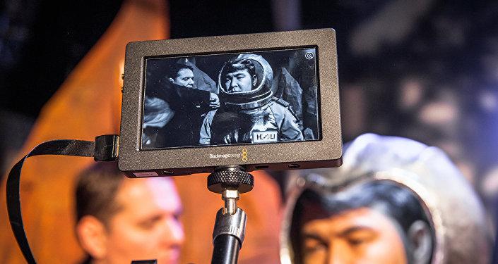Съемки скетча сатирического шоу Однажды в России