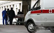 Доставка пострадавших в больницу, архивное фото