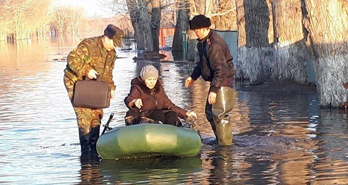 Паводок в поселке Чкалова