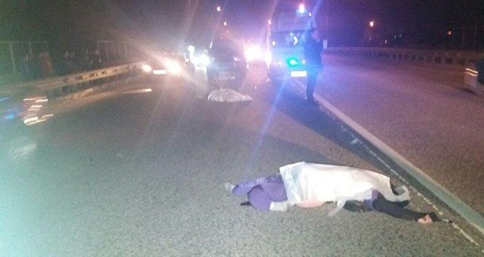 Смертельный наезд на двух пешеходов на Бурундайском мосту