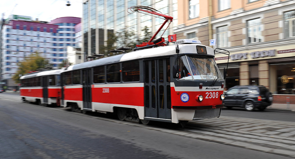 Архивное фото трамвая