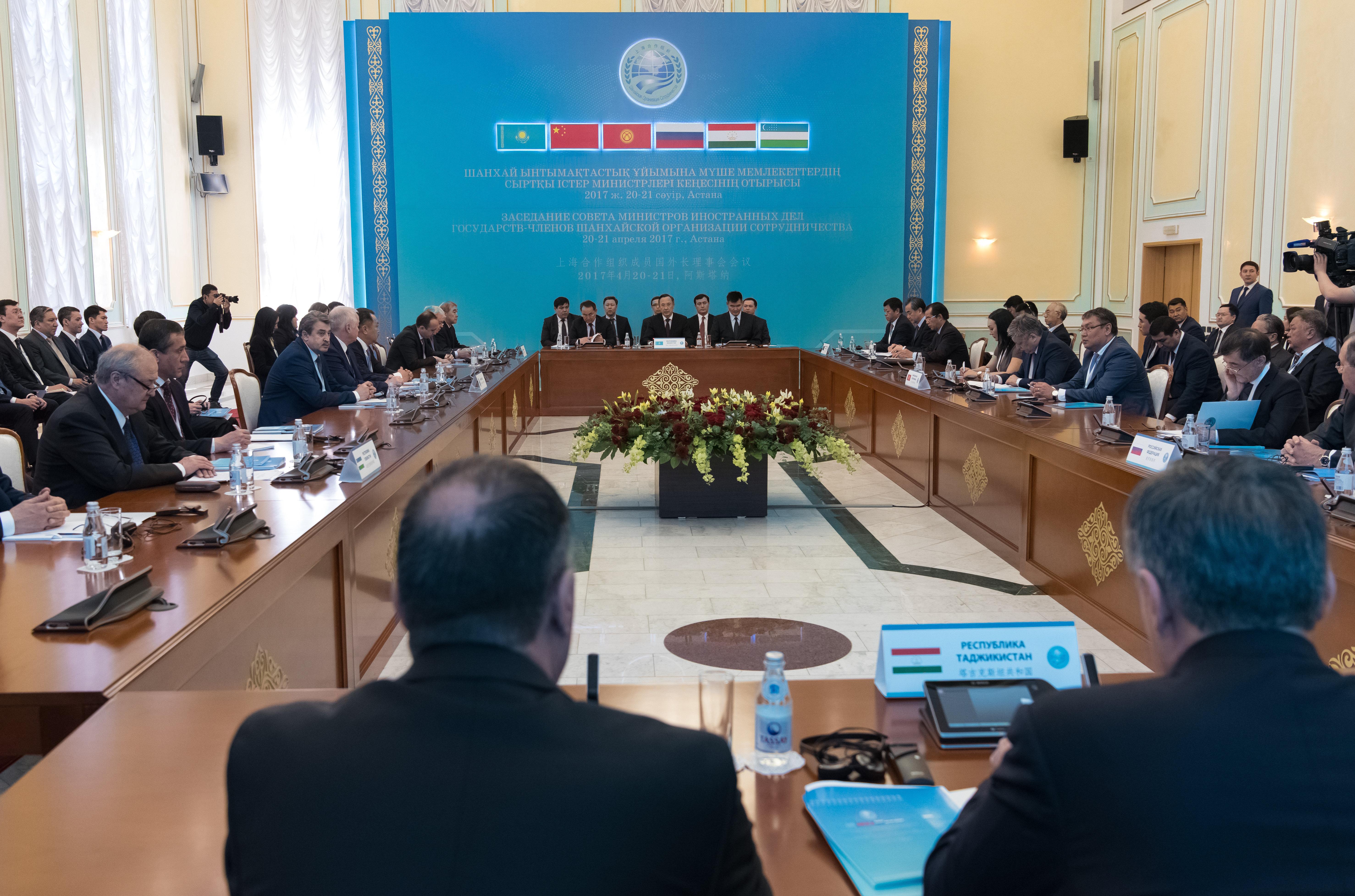 Заседание Совета министров иностранных дел стран ШОС в Астане