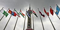 Флаги стран - членов ШОС, архивное фото