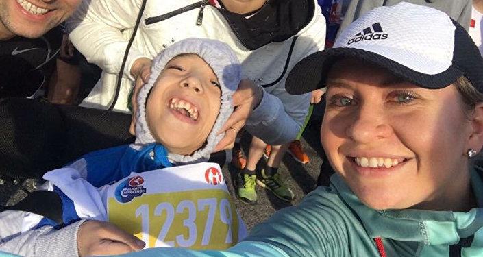 Аслан Шайкемелов на алматинском марафоне