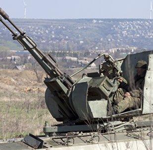 Архивное фото зенитной установки ЗУ-23-2