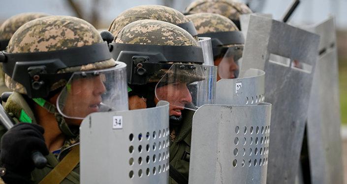 Военнослужащие на учениях